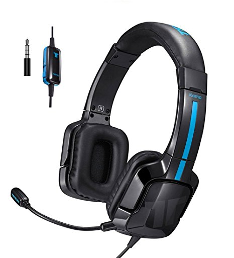 TRITTON Kama Stereo Gaming Headset for PS4, Xbox One, Noise Cancelling Over Ear Headphones with Mic, Bass Surround for Nintendo Switch