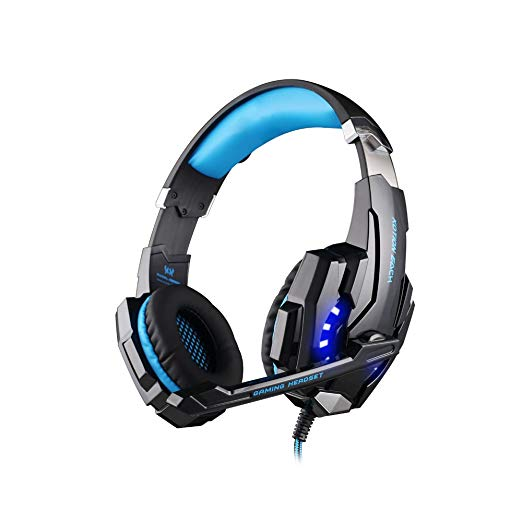Each G9000 3.5mm Gaming Headphones Headset Headband with Mic & LED Light for PS4 Playstation 4, PC, Laptop, Tablet, Smart phone, Iphone 6/iphone 6 plus, Iphone 5, Ipad, Lenono, Samsung