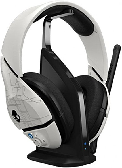 Skullcandy PLYR1 7.1 Surround Sound Wireless Gaming Headset, White (SMPYFY-072)