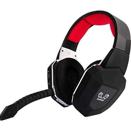 HUHD HW-399M 2.4Ghz Optical Wireless Gaming Headset for XBox 360,Xbox one, PS4,PS3, PC, With Detachable Microphone