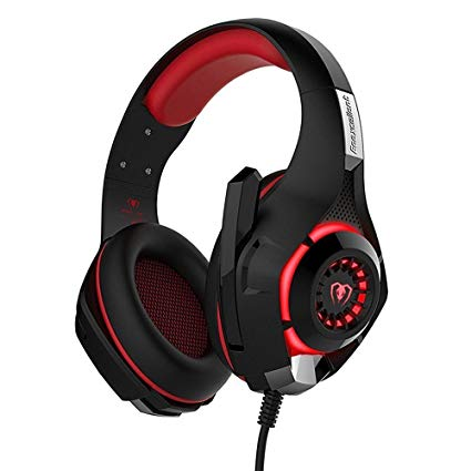 Hotyet Gaming Headset 3.5mm for PlayStation 4 Over-Ear Headphones with Volume Control Microphone for PS4 Laptop Tablet Mobile Phones