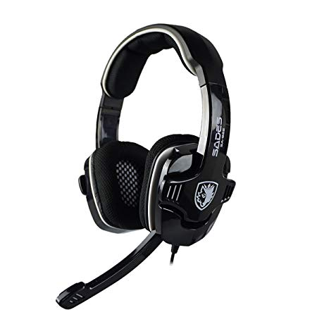 SADES SA922 Pro Stereo Gaming Headphones with Microphone for Pc / Mac / Xbox One / Xbox 360 / PS3 / PS4 / Mobile Phones(Black)