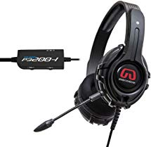 GamesterGear Cruiser P3200-I 2.0 Stereo 57mm Gaming Headset with Detachable Boom Microphone for Sony PS3 / PS4 / PC Console, Black Color, Blister Pack