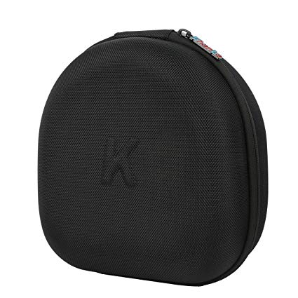 Khanka Hard Case Travel Storage Bag for Sony PlayStation PS4 Gold Wireless Stereo Headset, for PlayStation DualShock 4 Wireless Controller (1pcs). Mesh Pocket for USB and Cables