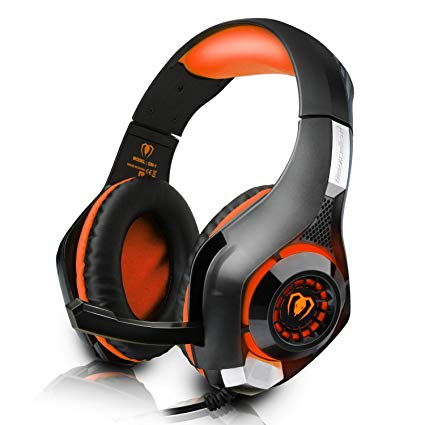 DIZA100 PS4 Gaming Headset with Microphone for PlayStation 4, Xbox one,PC-Orange