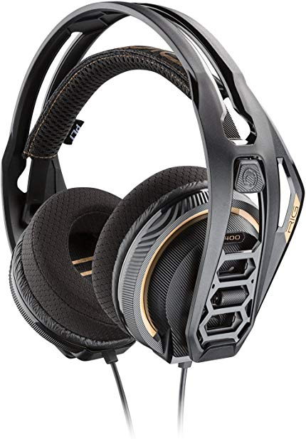 Plantronics Gaming Headset, RIG 400 Stereo Gaming Headset for PCs with Prepaid Dolby Atmos Activation Code Included