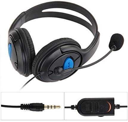 Playstation Wired Stereo Gaming Chat Bass Dual Ear Headset Headphone with Microphone Boom Mic for Sony PlayStation 4 PS4
