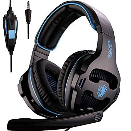 [Upgraded] SADES Stereo Gaming Headset for Xbox One PS4 PC Mac Mobile Tablet, Headphones with Microphone