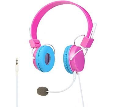 SYSTECH CX-340 Headband Gaming Headset 3.5mm Port Stereo Headphone Earphone for PS4 IPHONE IPAD SAMSUNG HUAWEI PC Game-PINK