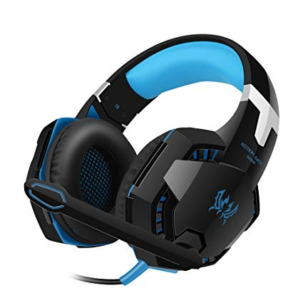 VersionTech All-in-one Stereo Headphones Gaming Headset for Xbox 360 PS4 PS3 PC Laptop Smartphone - Blue