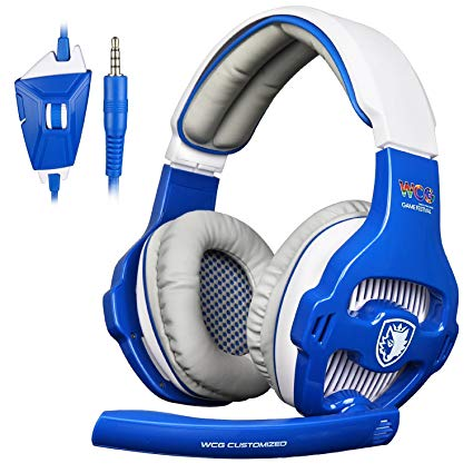 SADES WCG Universal Gaming Headset with Mic - Blue/White