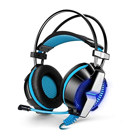 Jeecoo GS-700 Stereo PS4 Gaming Headset Over-ear Bass Headphones with Microphone for Mac/Apple/PC/Laptop/Xbox One